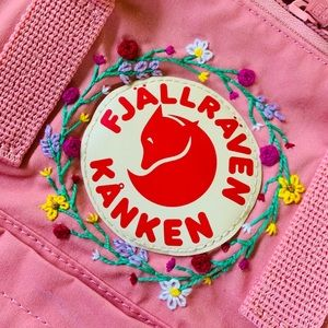 Hand embroidered Kanken